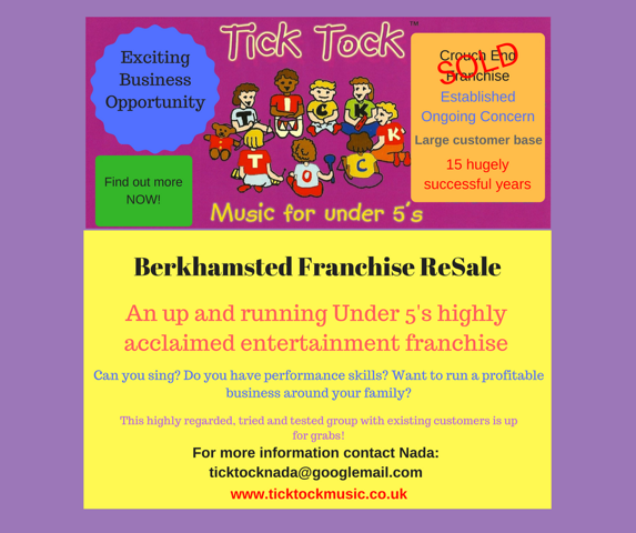 Berko Franchise Sale Advert
